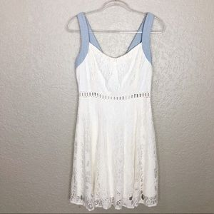 EUC Alter'd State Ivory Lace tie bowknot Dress